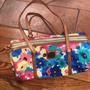 Dooney and bourke barrel satchel flower bag